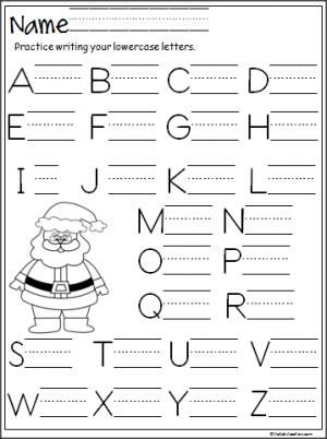 Free Santa capital letter writing practice page. Terrific