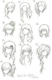 manga anime hair part 2