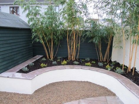 Rendered Concrete Block Raised Bed With Sandstone Wall Capping