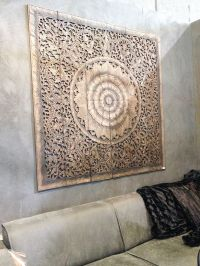 Balinese Wall decor, Carved Wood Wall Art Panel, Wall ...