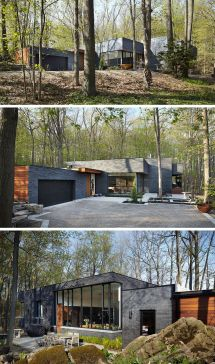Modern Houses In Forest Black Brick Lush And Bricks