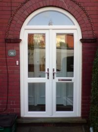 double upvc front doors for arched porch - Google Search ...