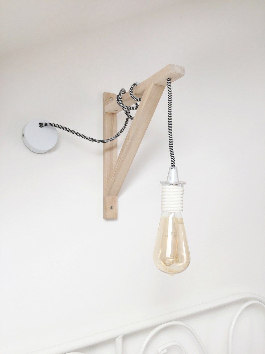 How to create your own DIY wall lamp with a hanging
