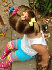 easy hair styles with bows baby