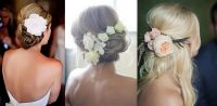 bridal hair with real flowers | above i love hair ...