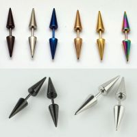 NEW Fashion Mens Women Stainless Steel Rivet Spike Punk