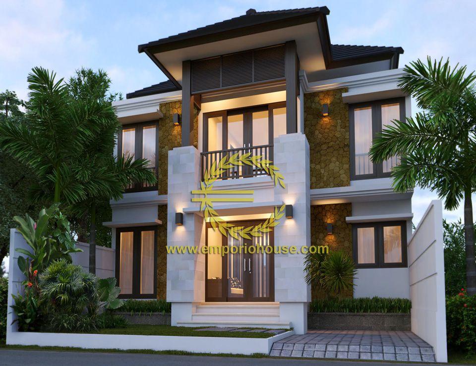 Desain Rumah 2 Lantai 4 kamar Lebar Tanah 9 meter dengan