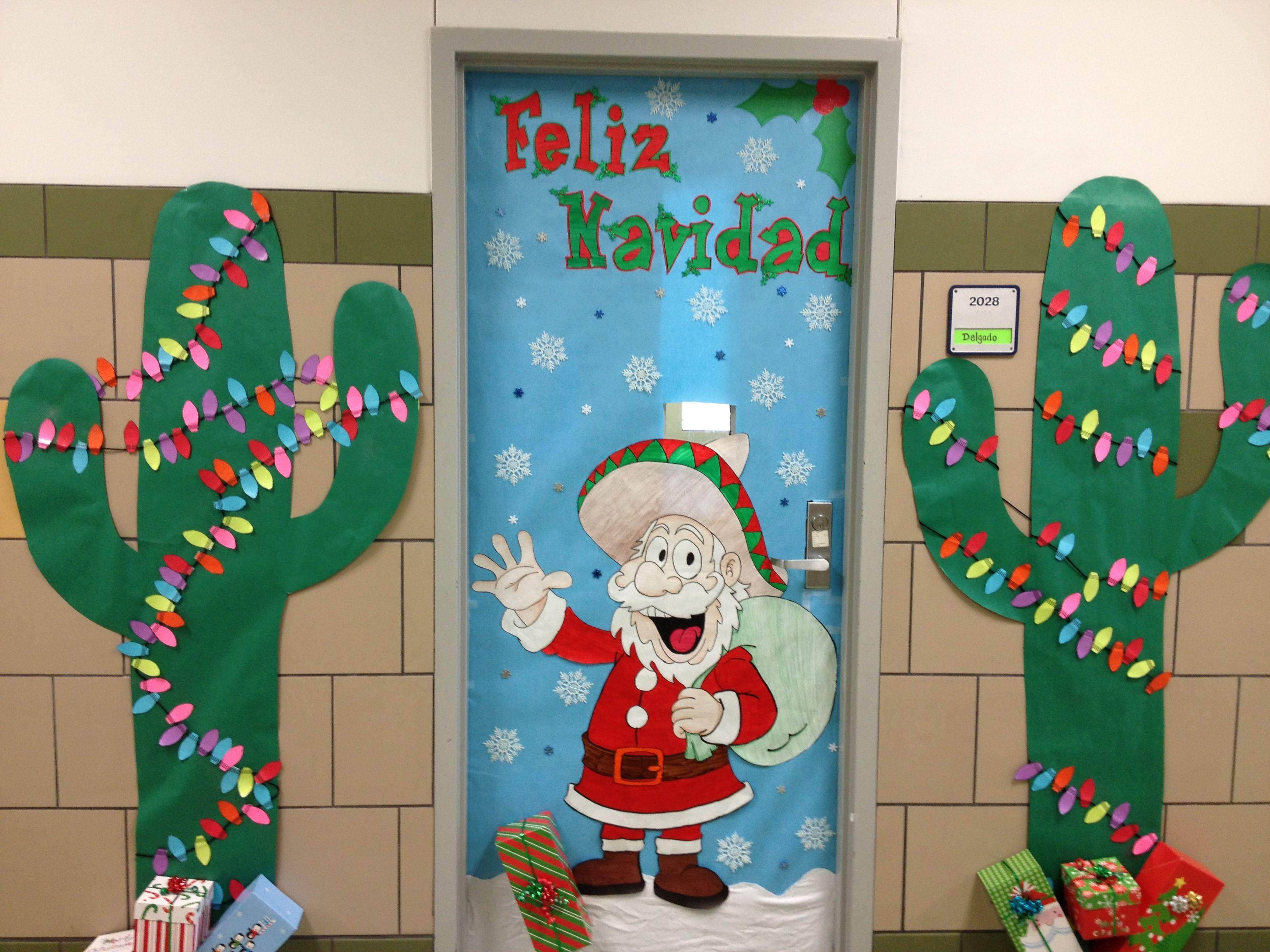 Christmas door decorating :)