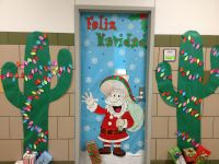 Christmas door decorating :)