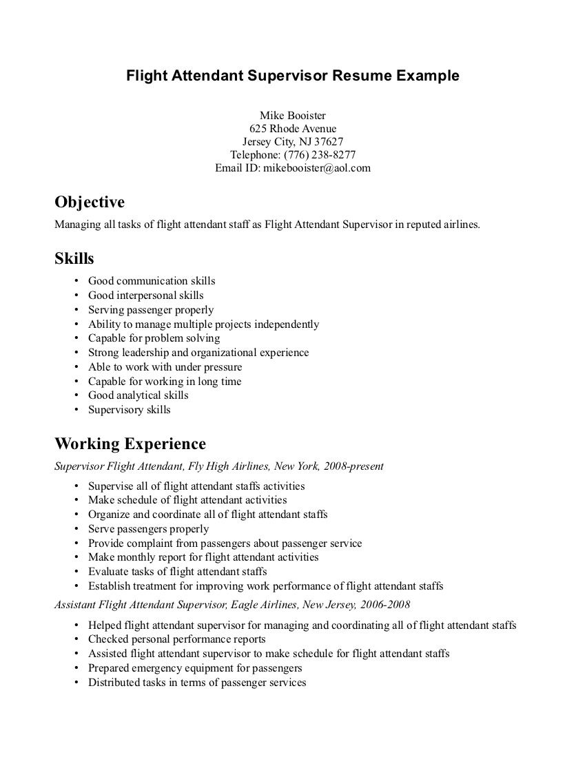 Biodata Resume Format For Attendant Job Jobresumesample