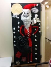 Nightmare before Christmas door decorating competition ...
