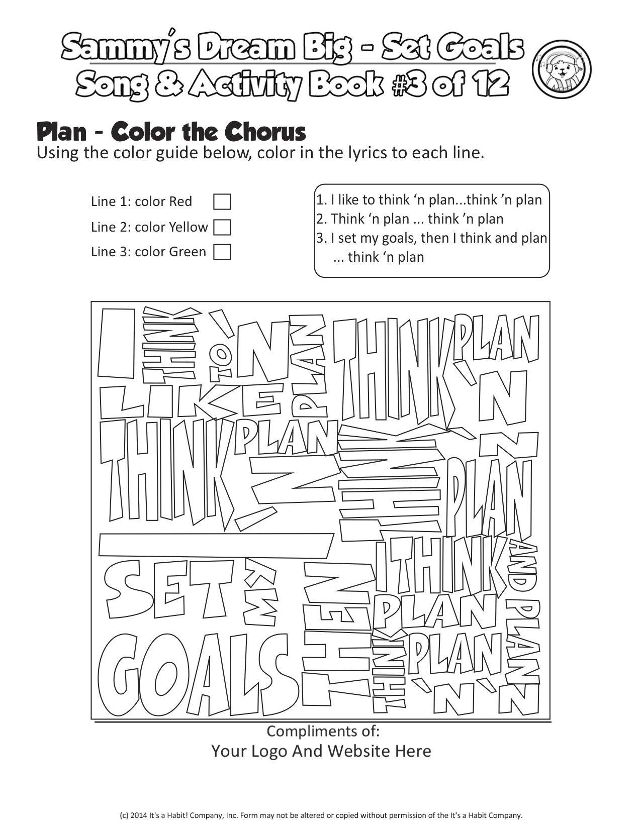 Sammy Rabbit Coloring Cloud Activity Sheet Worksheet Lyrics For Song Plan Teaches Kids Great