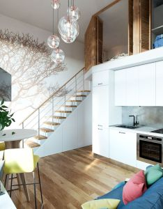 tiny apartment with loft space ideas also apartments rh za pinterest