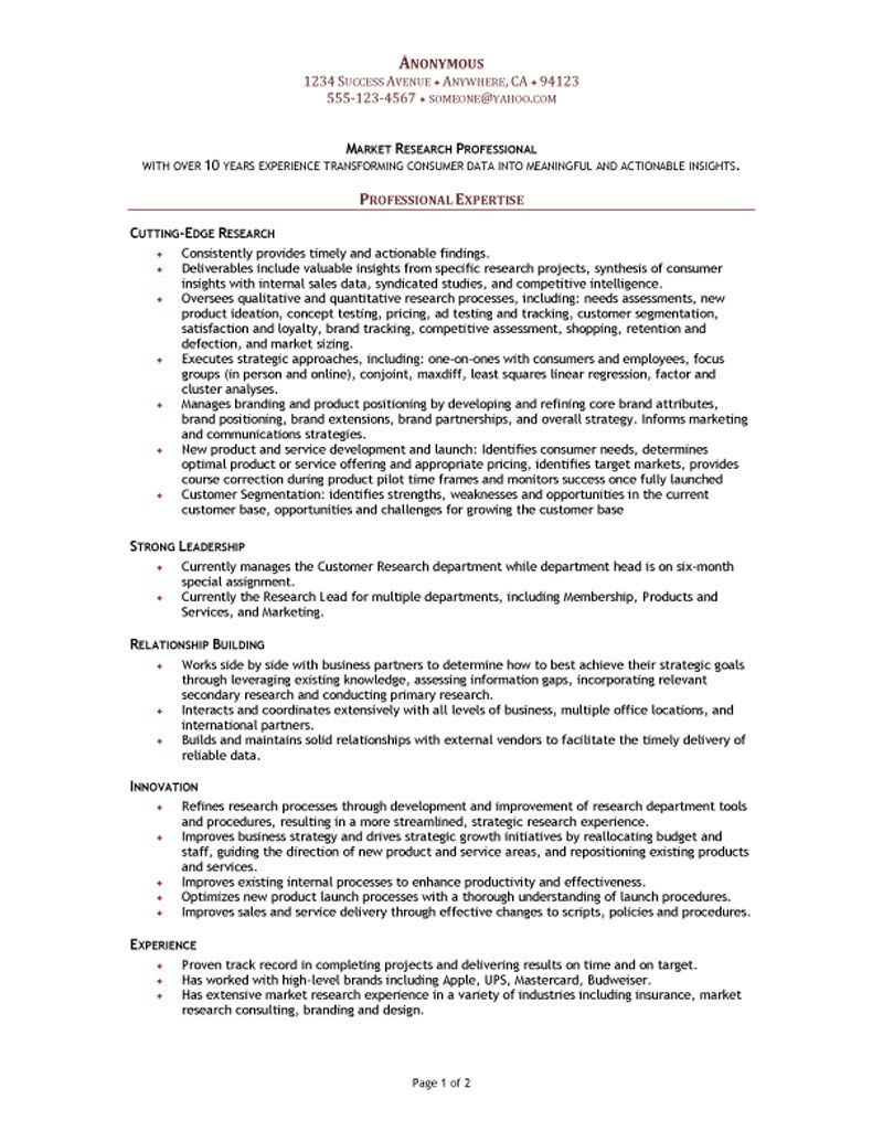 Market Research Analyst Cover Letter Resumecareer