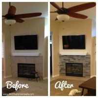 Updating a fireplace with airstone (fake 'stacked stone ...