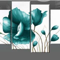 Diy Canvas Art For Living Room Round End Tables Teal Green Painting | Large Pictures ...