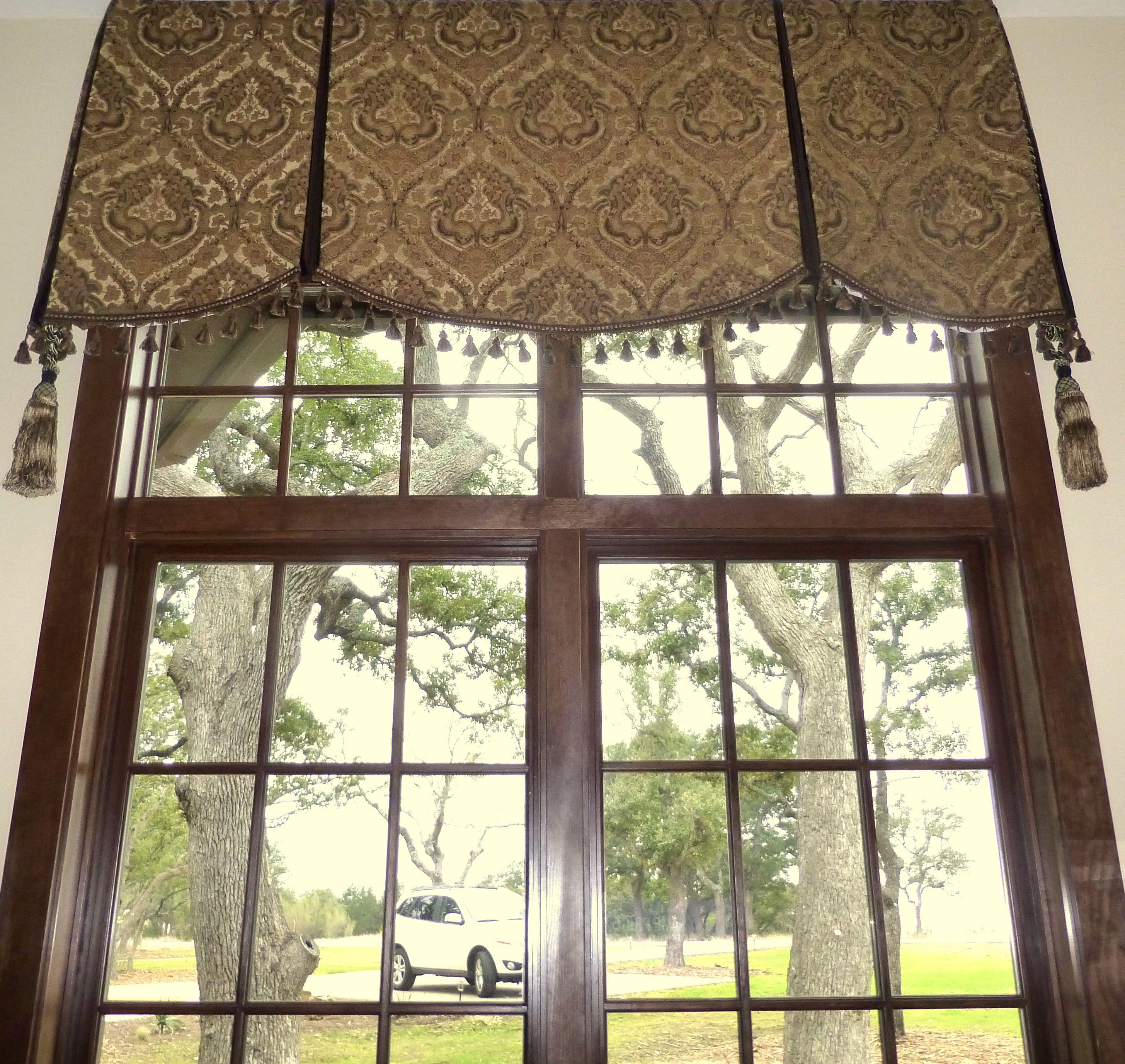 Soft Cornice Valance Over Transom Window No Sew