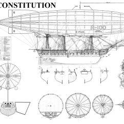 Uss Constitution Diagram Pioneer Mixtrax Car Stereo Wiring Airship U S Blueprint My Random Doodles