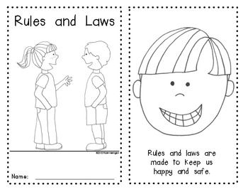 {Rules and Laws} Emergent Reader for Young Students