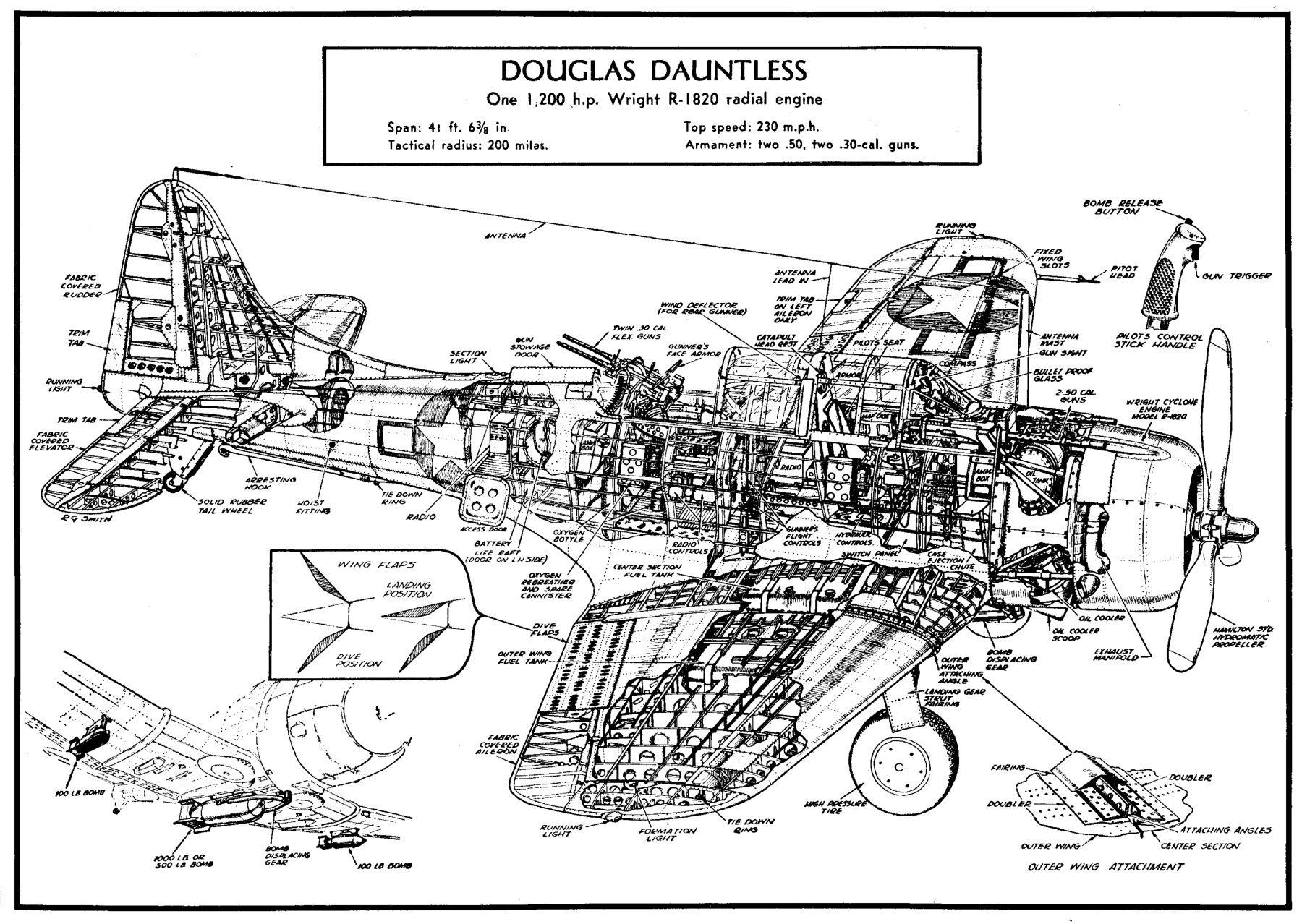 Douglas Dauntless Cutaway