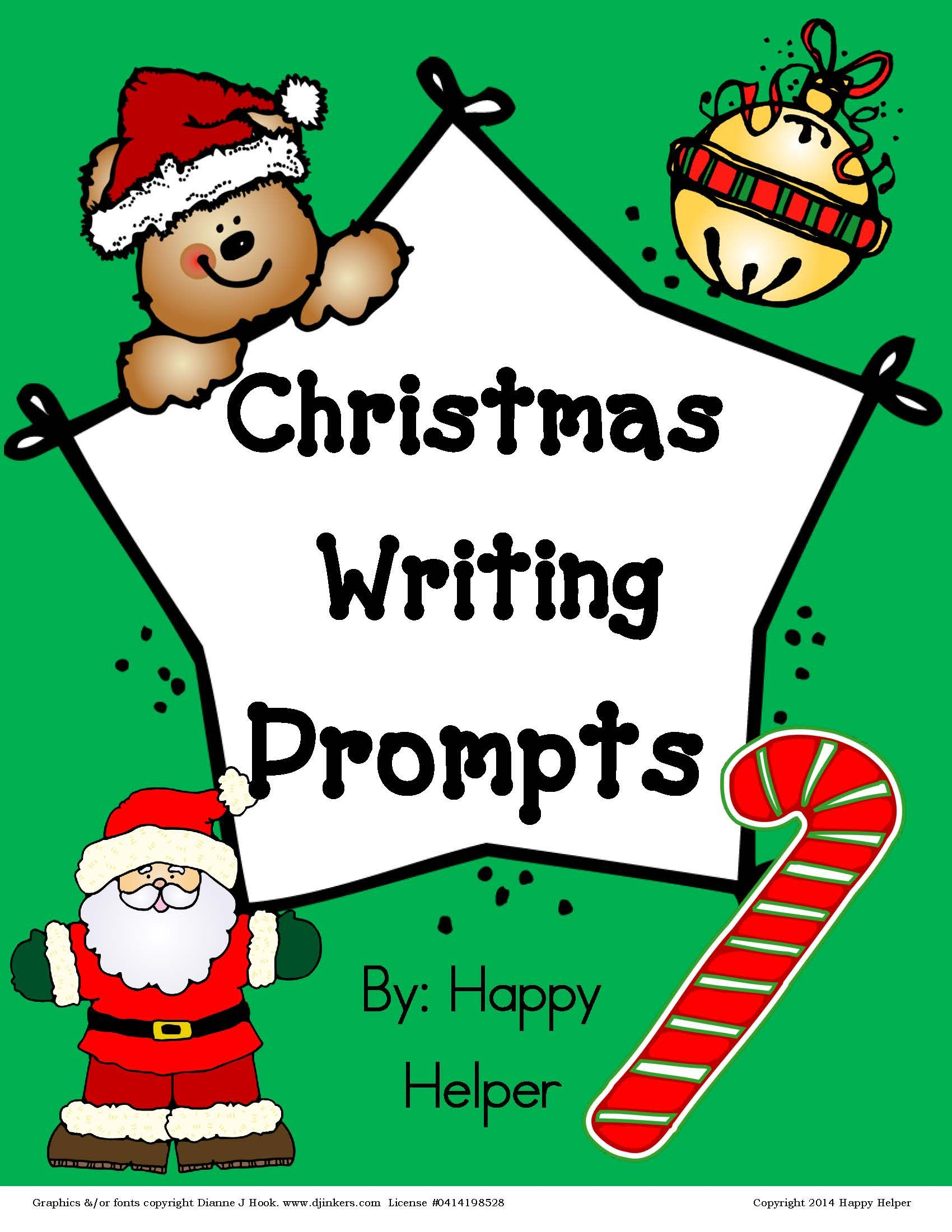 Free Writing Prompts For Christmas Students Love To Answer These Fun Prompts Writing Pages
