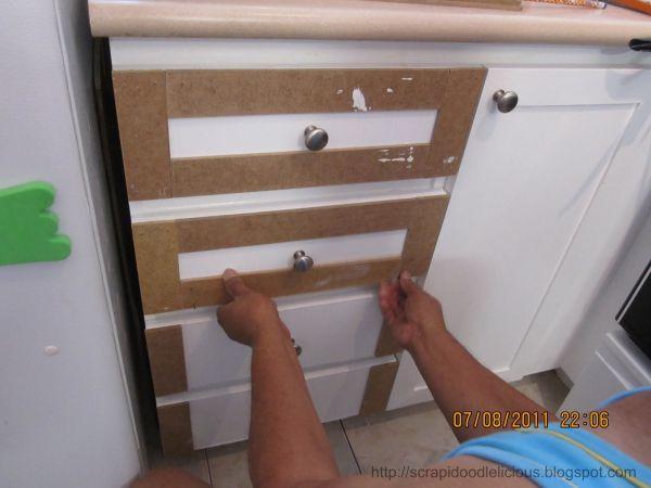 D.I.Y Trim Kitchen Cabinet Doors