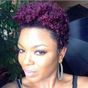 natural hair dyed purple