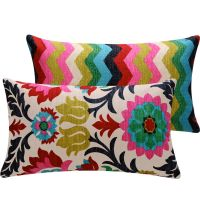 Colorful Floral Chevon Throw Pillow Cover via Etsy ...