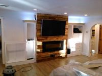 240v Electric Fireplace, recessed power & cables for wall ...