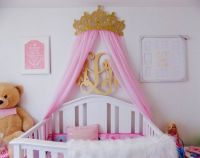 3D Princess Diamond and Pearl Crown Canopy includes Sheer ...