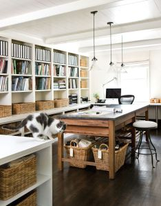 Home office work space photo by atlanta homesis is my dream craft room also great workspace pinterest works rh