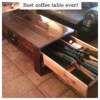 Hidden Gun Rack Plans | Coffee table gun storage. Hidden ...