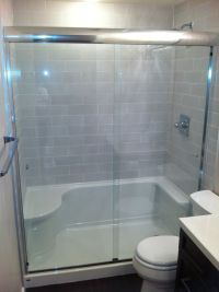 Tub to Shower Conversion Cost | Tile shower & tub to ...