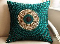 Teal throw pillows silk | Home Improvement Gallery | I ...