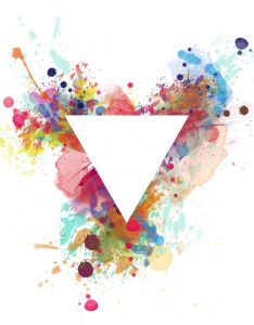 Watercolour triangle logo google search also painting tips rh nz pinterest