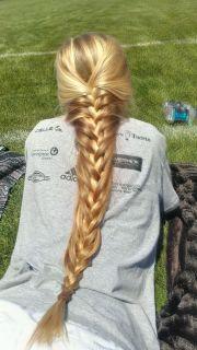french braid long hairs