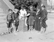 Elementary School Kids Barefoot