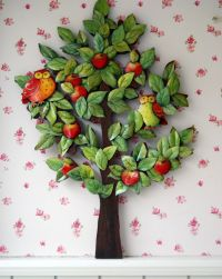 A DIY wooden 3D decoupage tree from Meltem... | Ece Aymer ...