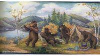 Wildlife Wallpaper Border   Home  Blue Mountain Bears ...