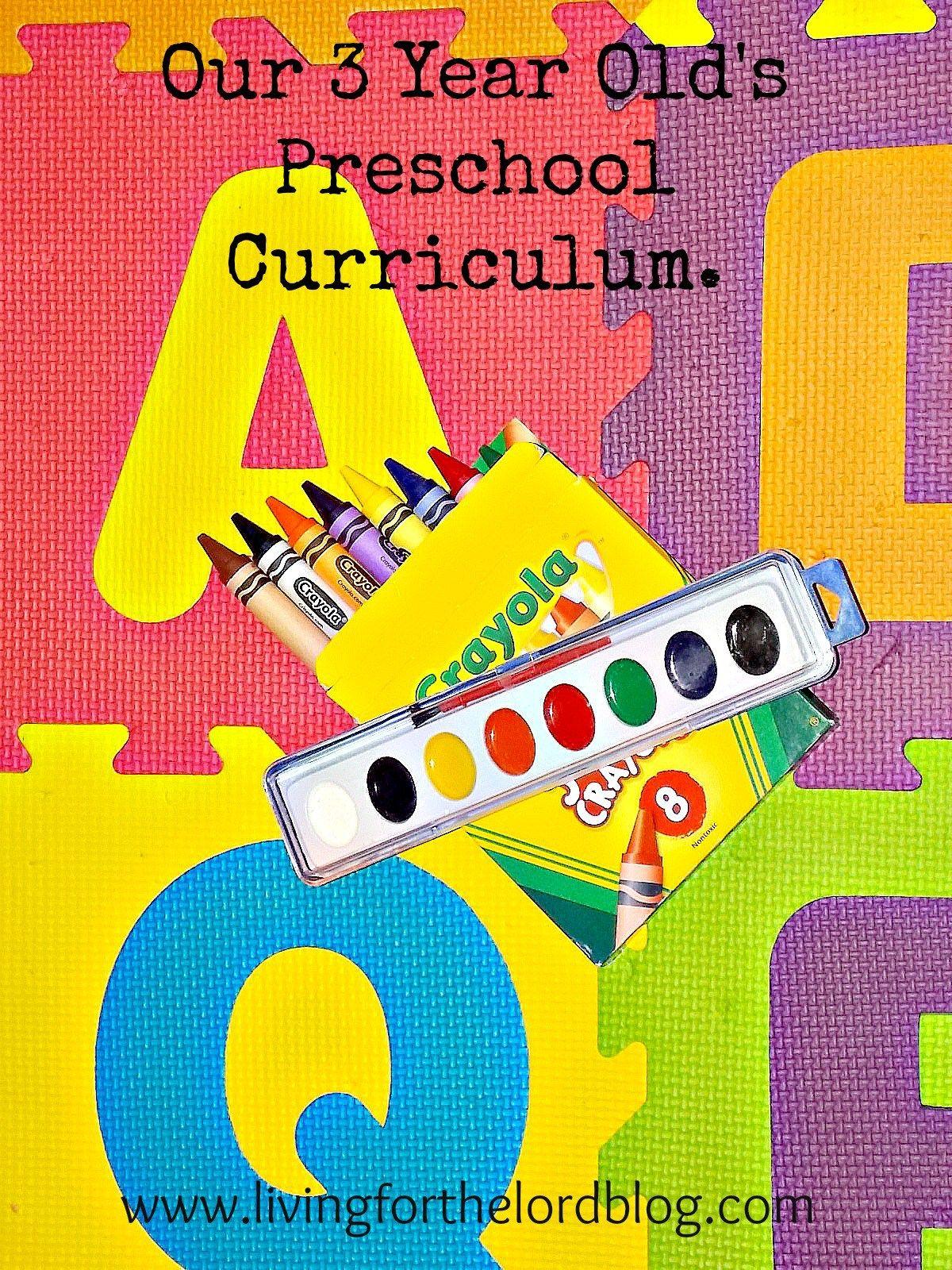 Our 3 Year Old S Preschool Curriculum Homeschoolcurriculum