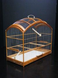 Wooden Birdcage Hand Crafted Oak Wood Bird Cage SM | Bird ...