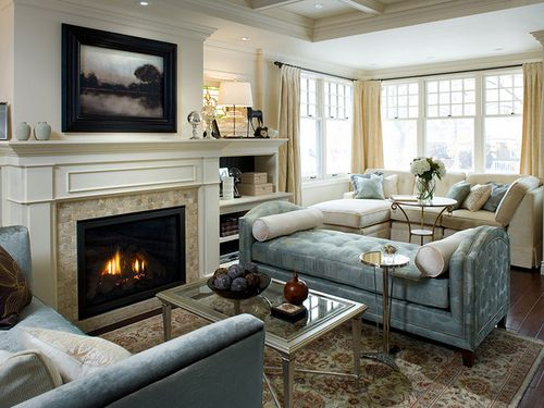 Living Room With Fireplace Decorating