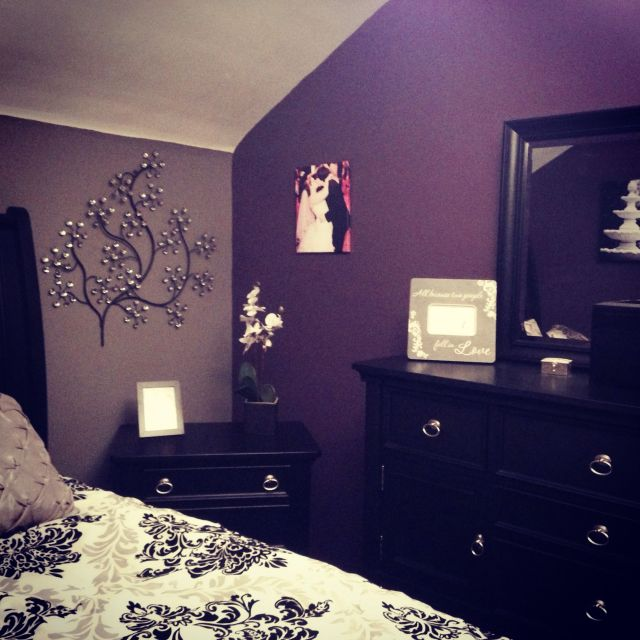 My purple and Grey bedroom My DIY Pinterest