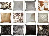 12 Chic Cowhide Pillows for the Home | Cowhide pillows ...