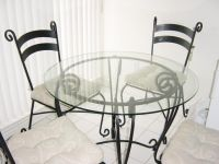 glass and wrought iron table and chairs   PIER 1 Dining ...