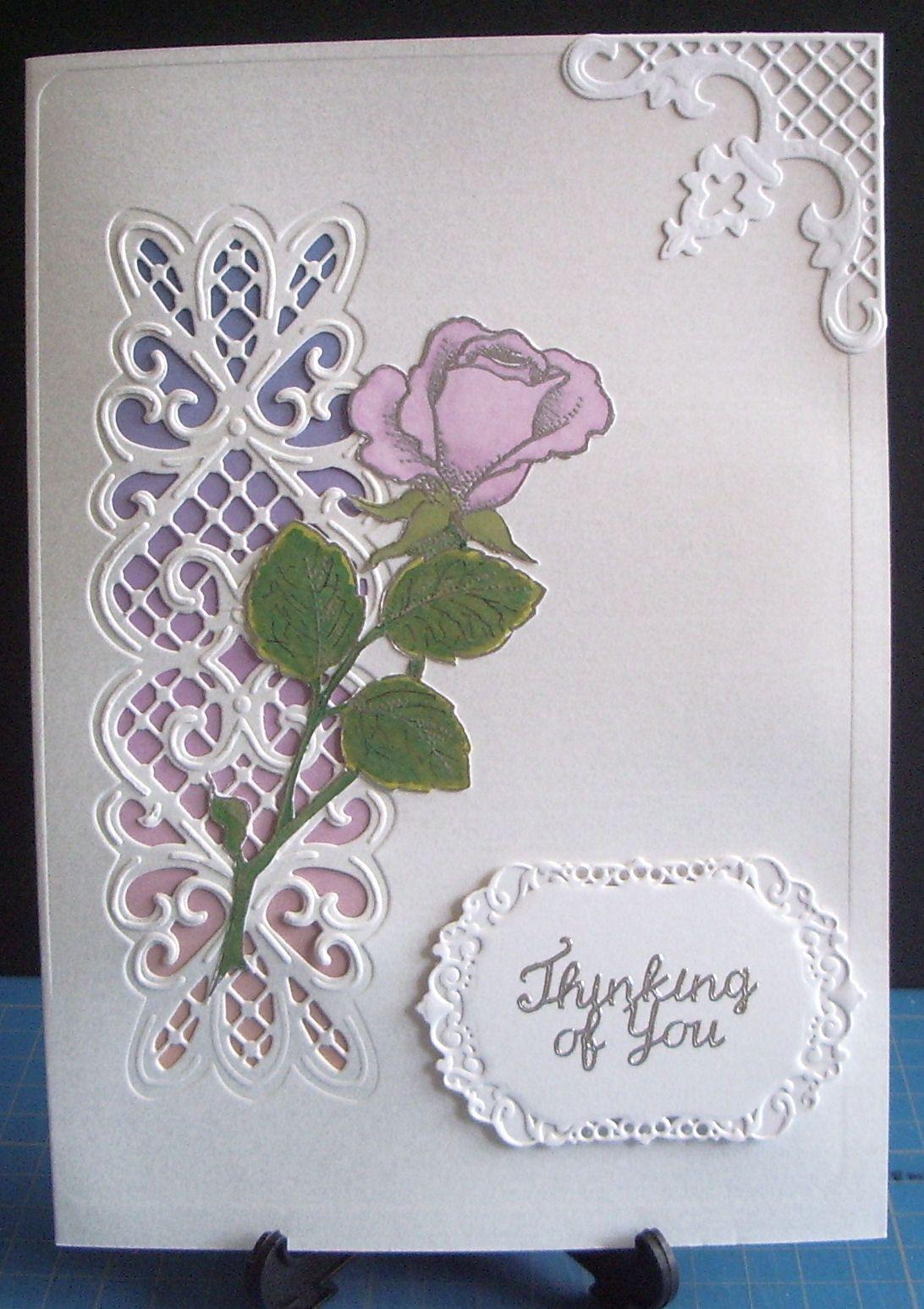 Sue Wilson Striplet JS Rose Stamp Embossing Folder