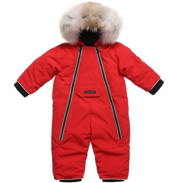 Canada Goose Red Snowsuit Suitable Baby Boys And Girls. Clothes