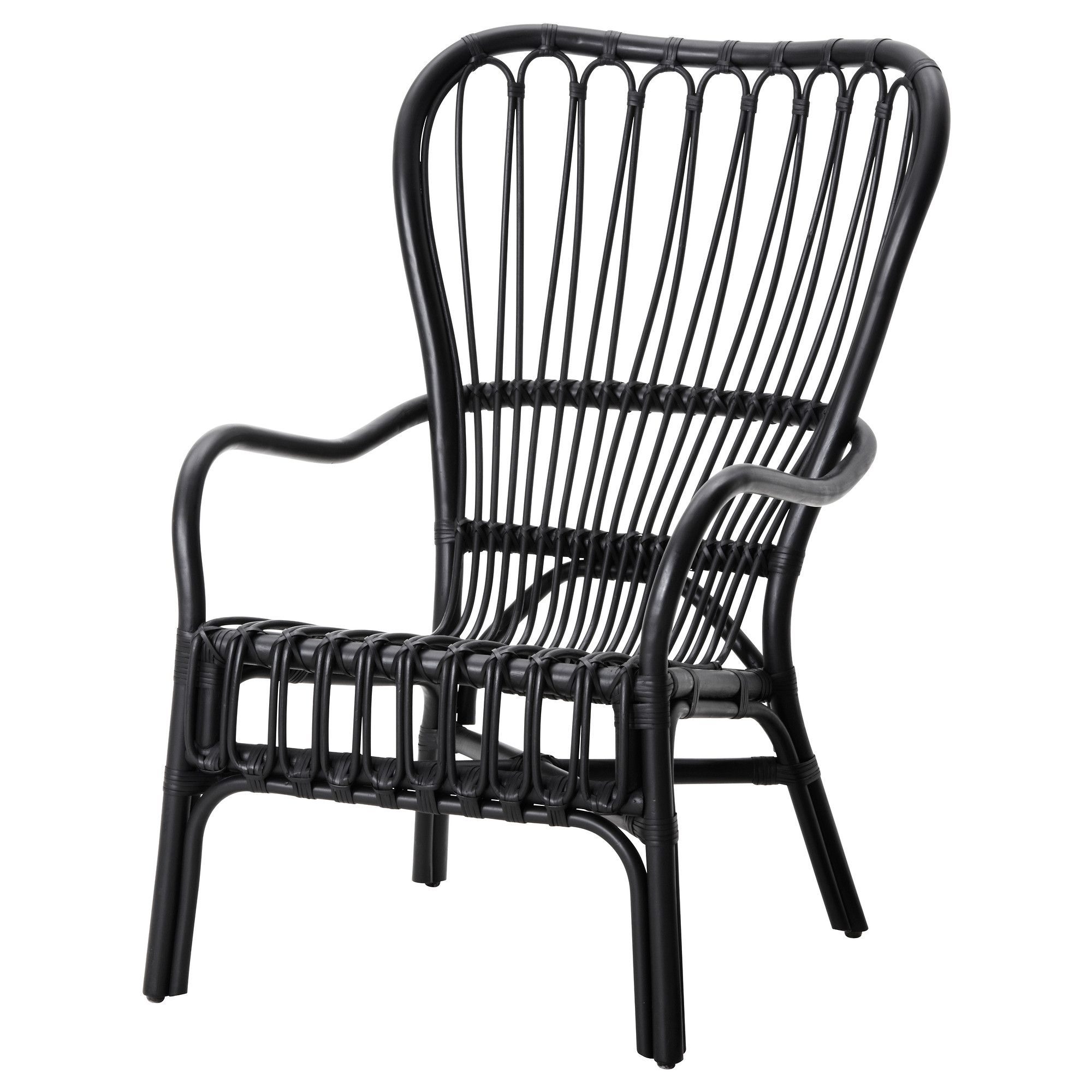black rattan chair memory foam office cushion storsele armchair armchairs and porch