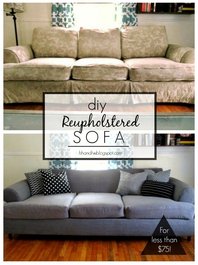 Make A Dropcloth Sofa Sectional Slipcover Love Seat Sectional