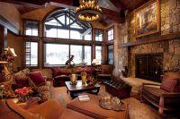 Rustic Mountain Home Interior Design #design #exposedbeam ...
